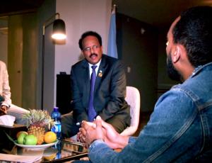 Meeting President 'Farmajo' of Somalia